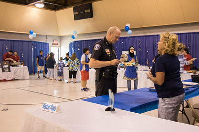 "Dearborn Heights held its 30th annual Spirit Festival June 1st  June 5th, 2016 at the Canfield Community Center. Dearborn Heights Police Chief Lee Gaving enjoys the 24th annual ""Taste of the Heights"". Photo by Debbie Malyn for the Press & Guide."