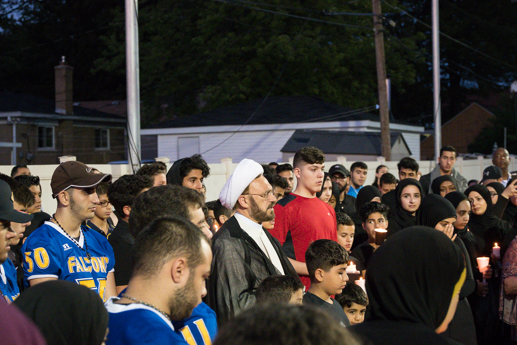 . A candlelight vigil was held Monday, July 10, for Mohammed Wutwut, a 15-year old from Dearborn Heights Star International Academy who drowned on July 8, 2017. The vigil took place at 9 p.m. at the school. The teen was a football player and popular student and would have been a sophomore in the fall. Photo by Debbie Malyn.