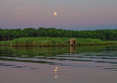 August Moon In Purple On Price Creek