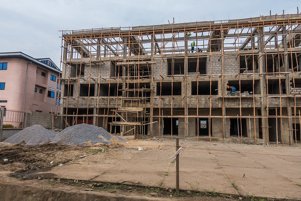 Building construction. Ekona, Southwest Region, Cameroon Africa