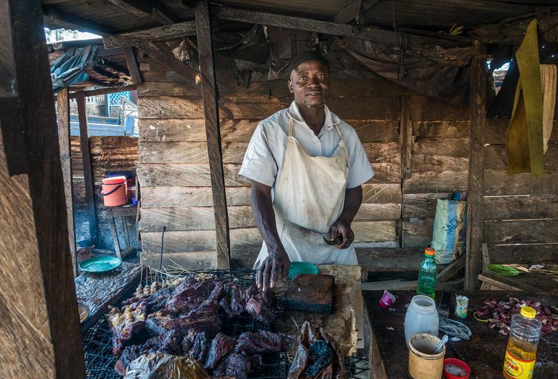 Soja seller. Bangem, Southwest Region, Cameroon Africa