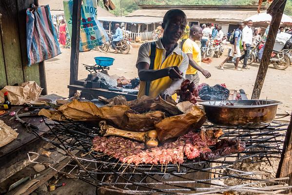 Soya vendor. Tombel, Southwest Region, Cameroon Africa