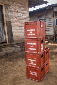 Beer crates. Nyasoso, Southwest Region, Cameroon Africa