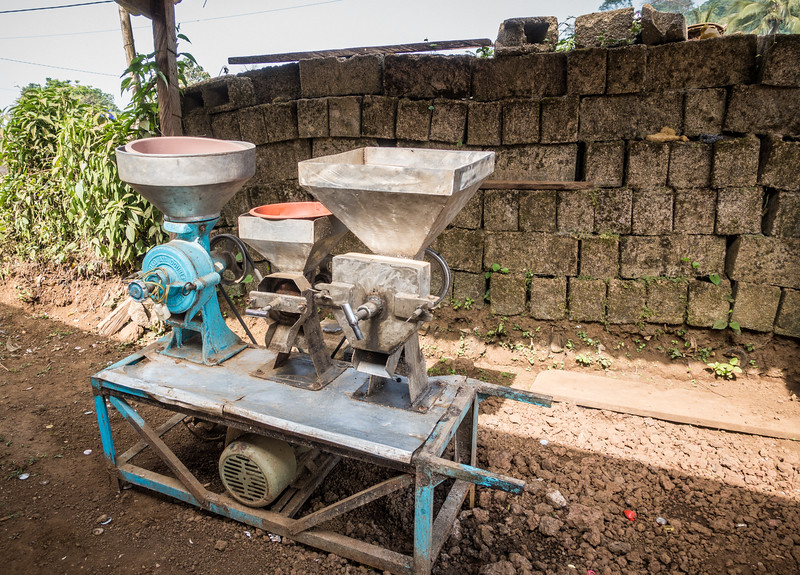 grinder. Nyasoso, Southwest Region, Cameroon Africa