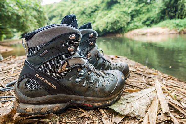 Salomon Quest 4D boots, Edib to Baseng hike, Southwest Region, Cameroon Africa