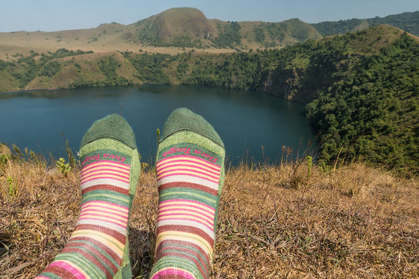 Darn Tough socks at Mount Manengouba, Littoral Region, Cameroon Africa