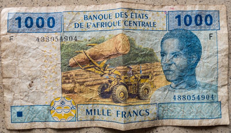 Celebrating Deforestation. Central African 1000 Francs, Cameroon Africa