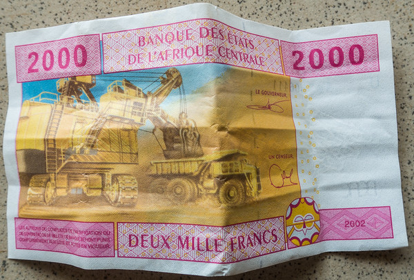 Central African 2000 Francs, Cameroon Africa