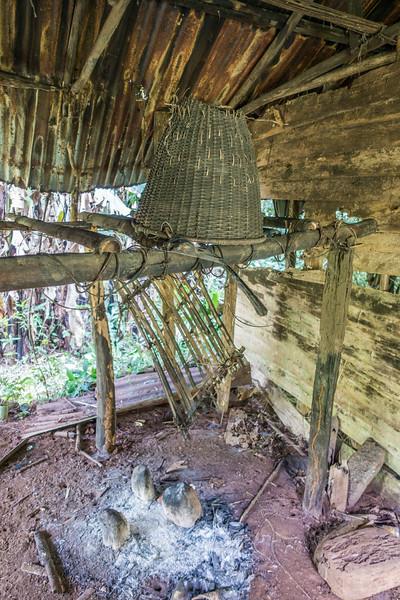 Inside adnaboned house. Edib, Southwest Region, Cameroon Africa