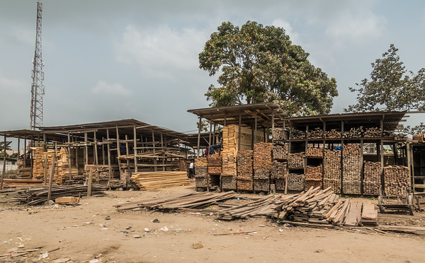 Lumber store. Douala to Nyasoso, Littoral region, Douala, Cameroon Africa