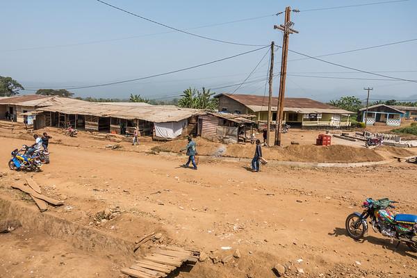 street corner in Bangem, Southwest Region, Cameroon Africa