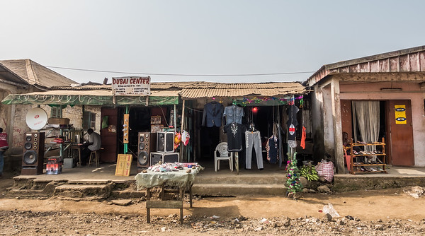 Audio and clothing stores. Tombel, Southwest Region, Cameroon Africa