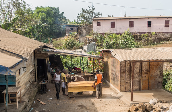 Casket making. Tombel, Southwest Region, Cameroon Africa