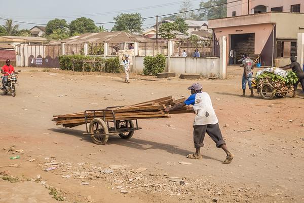 lumber transport. Tombel, Southwest Region, Cameroon Africa