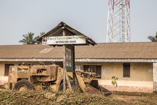 WWF information board. Tombel, Southwest Region, Cameroon Africa
