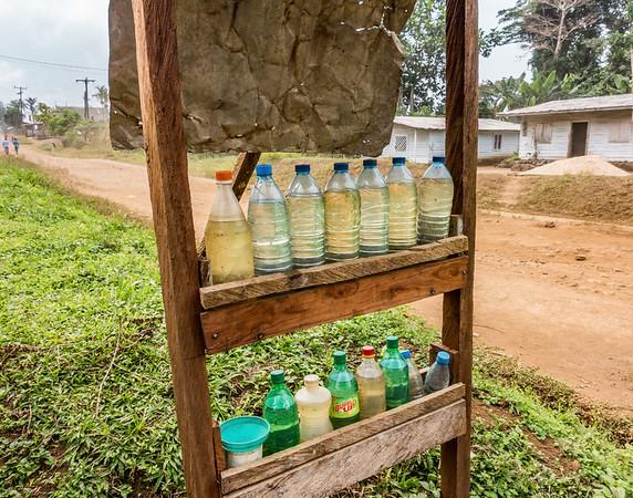 rural gas station. Nyasoso, Southwest Region, Cameroon Africa