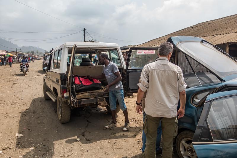 Transportation via Landcruiser. Tombel, Southwest Region, Cameroon Africa