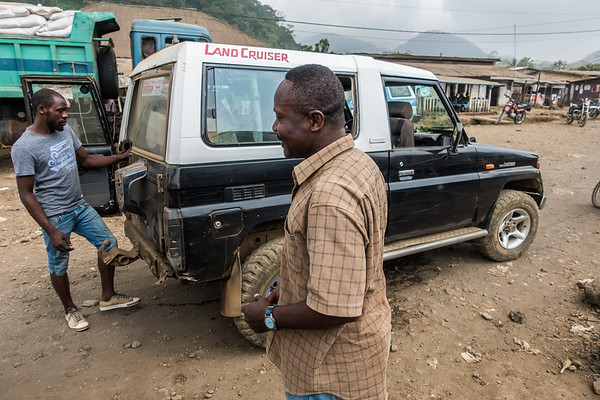 Ben with our driver. Tombel, Southwest Region, Cameroon Africa