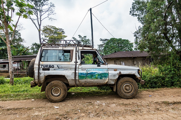Toyota Landcruiser (with Georgia USA tags). Nyasoso, Southwest Region, Cameroon Africa