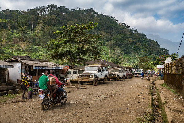 Old Landcruisers and trucks. Tombel, Southwest Region, Cameroon Africa