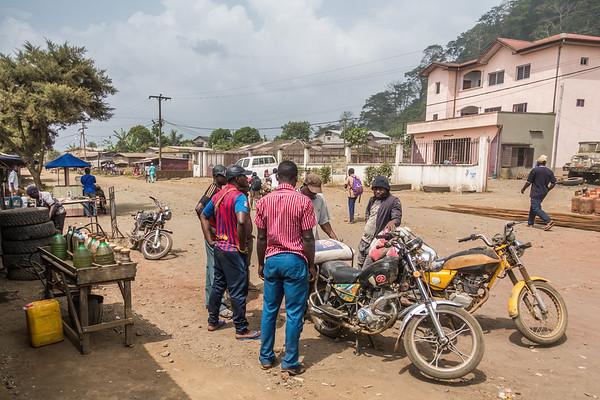 Gas station. Tombel, Southwest Region, Cameroon Africa