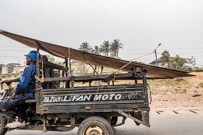Delivery three wheeler. Bonaberi, Littoral Region, Cameroon Africa