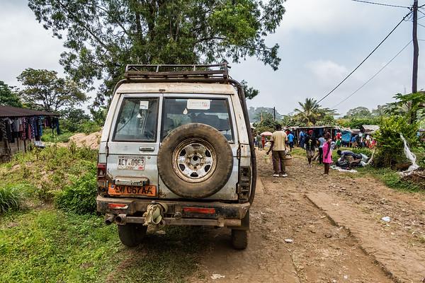 Toyota Landcruiser with Georgia USA tags. Nyasoso, Southwest Region, Cameroon Africa