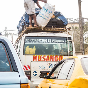 """No Condition is Permanent"" tmid traffic jam passsenger pickup. Bonaberi, Littoral Region, Cameroon Africa"