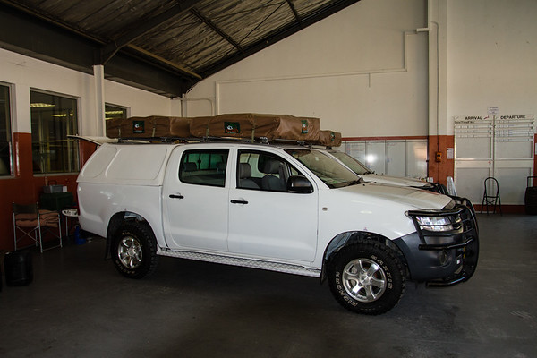 Toyota Hilux 4x4 rented trucks. Windhoek, Khomas Namibia