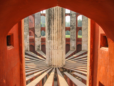 inside of one Ram Yantra. Jantar Mantar Ancient Observatory. Delhi India