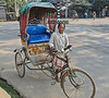 rickshaw & driver. Guwahati, Assam India