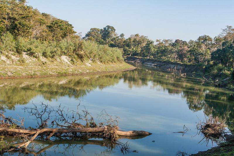 Brahmaputra River. Kaziranga National Park, Tezpur, Assam India