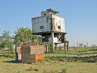 observation station. Kaziranga National Park, Tezpur, Assam India