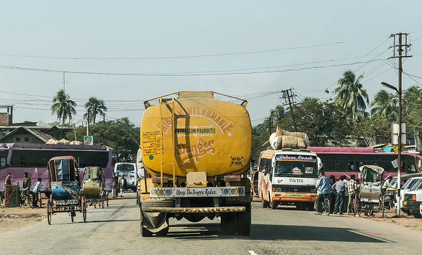 "Highly ""Inflammable"" Petroleum Products truck - Tezpur -  -  Assam - India - ©2007 Margy Green"