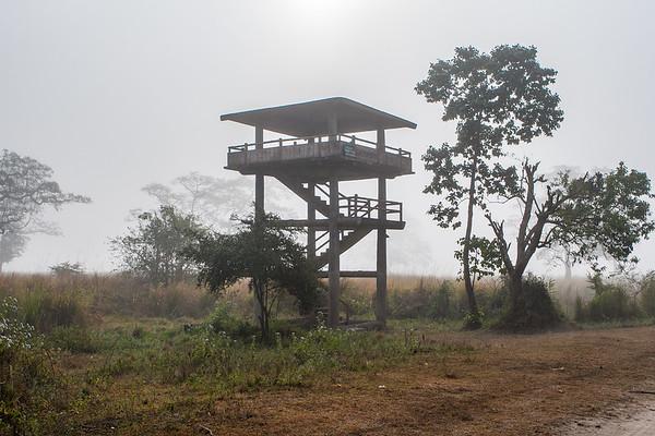 Observation Tower. Kaziranga National Park, Tezpur, Assam India