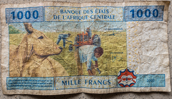 Central African 1000 Francs, Cameroon Africa
