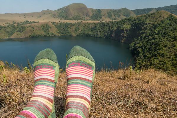 Darn Tough socks at Mount Manengouba, Littoral Region, Cameroon Africa
