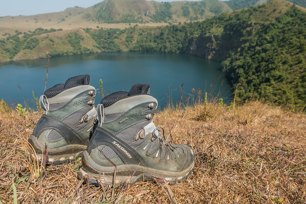 Salomon Quest 4d boots at Mount Manengouba, Littoral Region, Cameroon Africa