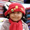 little girl at craft fair. Quito Ecuador