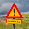 Blindhaed road sign