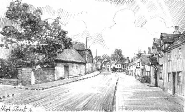 <font size=3><u> - High Street - </u></font> (BS0114)  College farm on left.