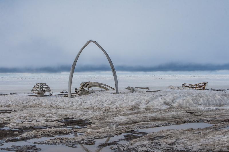 Whale Bone Arch. Barrow Alaska USA