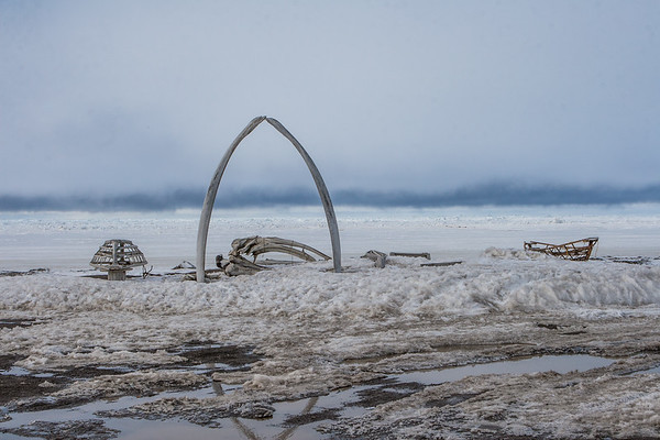 Whale Bone Arch. Barrow Alaska USA