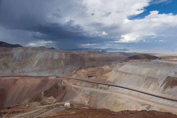 Fascinatinlgy disgusting. Largest open pit copper mine in US. Morenci Arizona USA