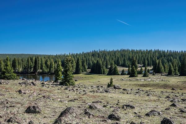 Drive Rim Lake, Dixie National Forest, Garfield County Utah USA
