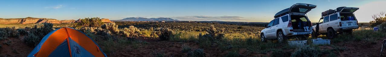 campsite panorama, Wind Whistle Rock, Utah