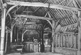 <font size=3><u> - Inside of Battle Barns - </u></font> (BS0226)  Thought to be the interior of a Crowmarsh Battle barn.