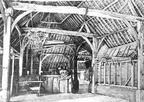<font size=3><u> - Battle Farm barn - </u></font> (BS0183)  Successfully converted for office use in the late 20th century.