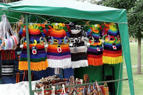 wool masks. Quito Ecuador
