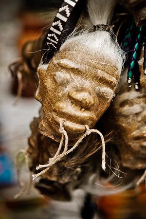 imitation shrunken head. Quito Ecuador